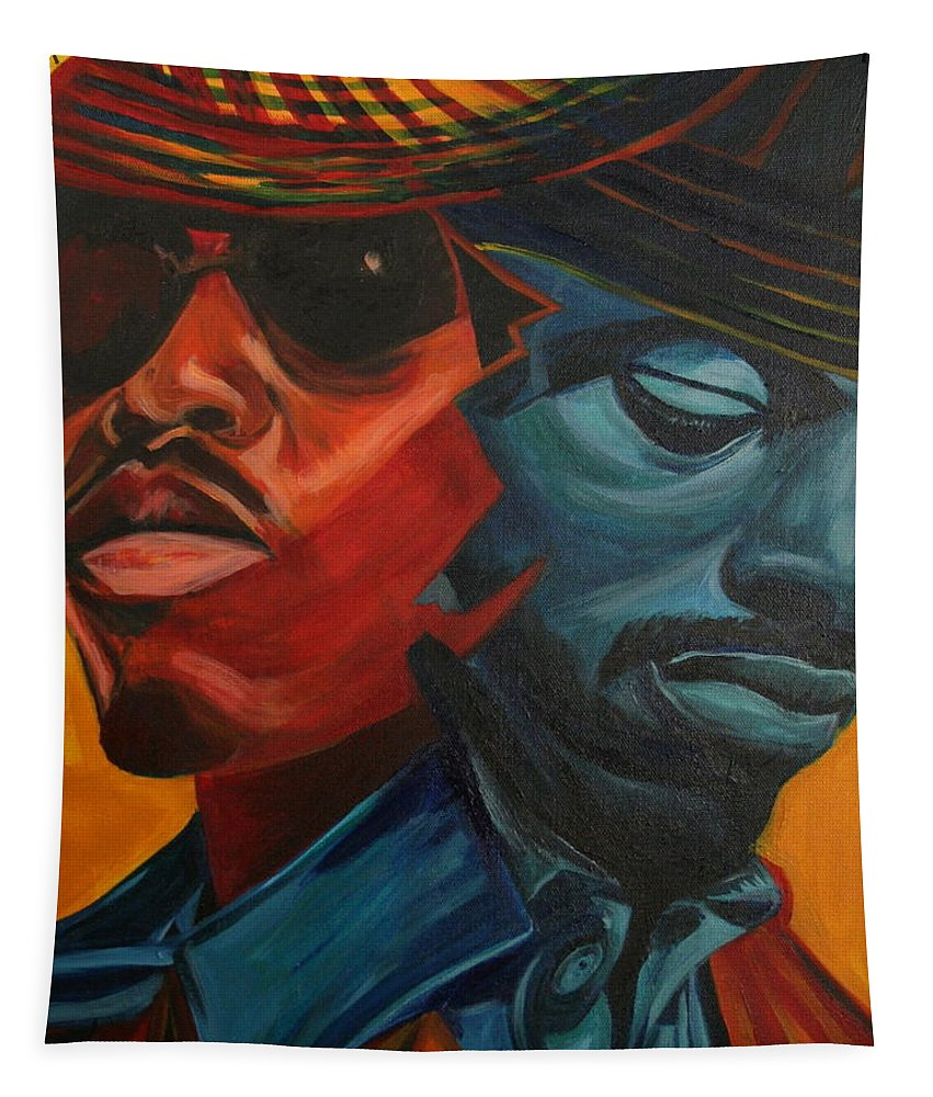 Big Boi Tapestry featuring the painting Outkast by Kate Fortin