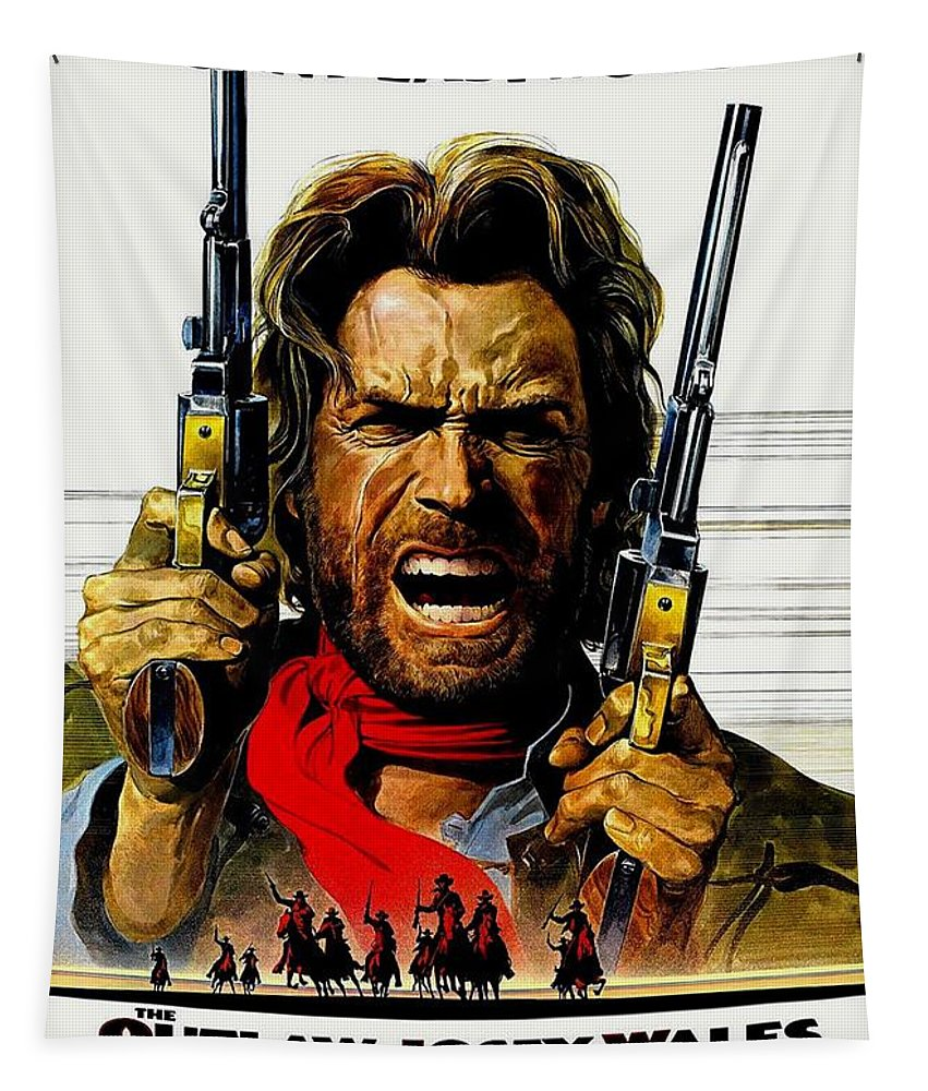 Clint Eastwood Tapestry featuring the photograph Outlaw Josey Wales The by Movie Poster Prints