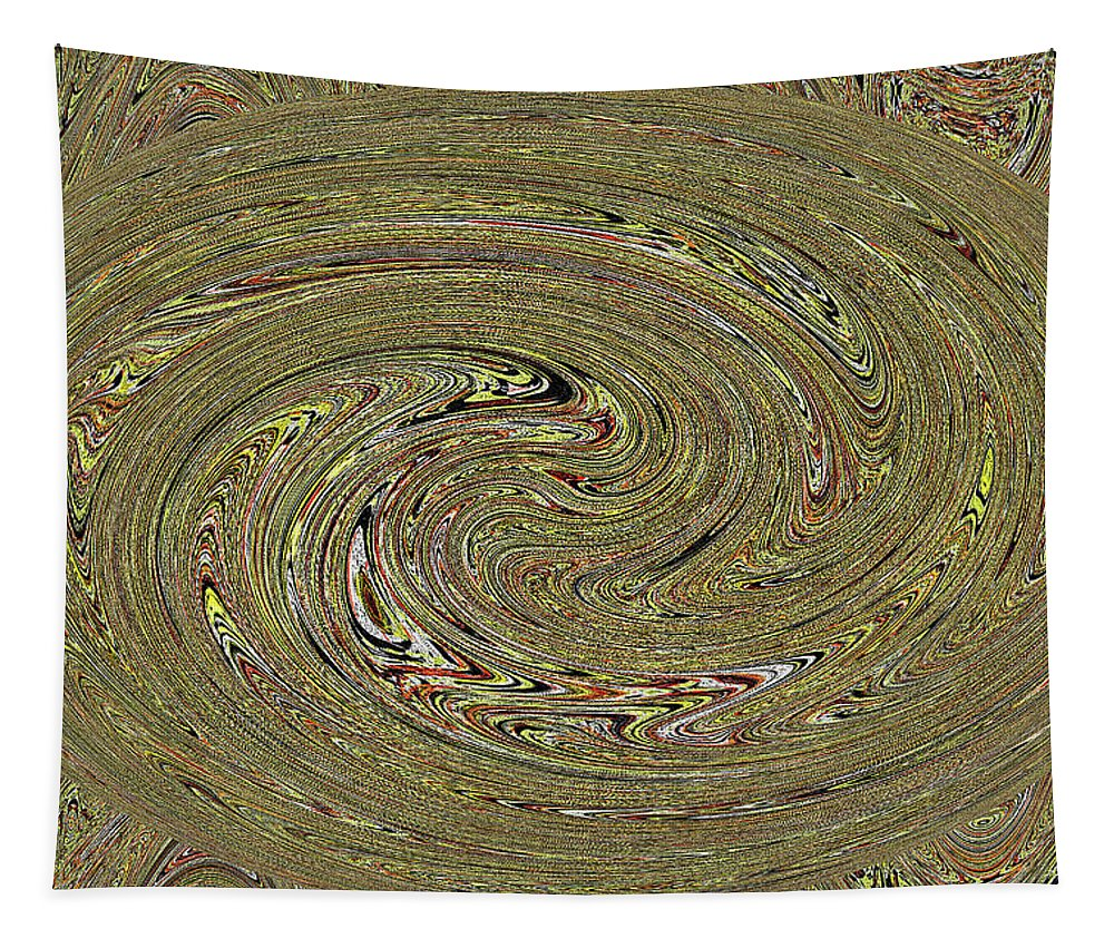 Oval Abstract Panel 6150-5 Tapestry featuring the digital art Oval Abstract Panel 6150-5 by Tom Janca