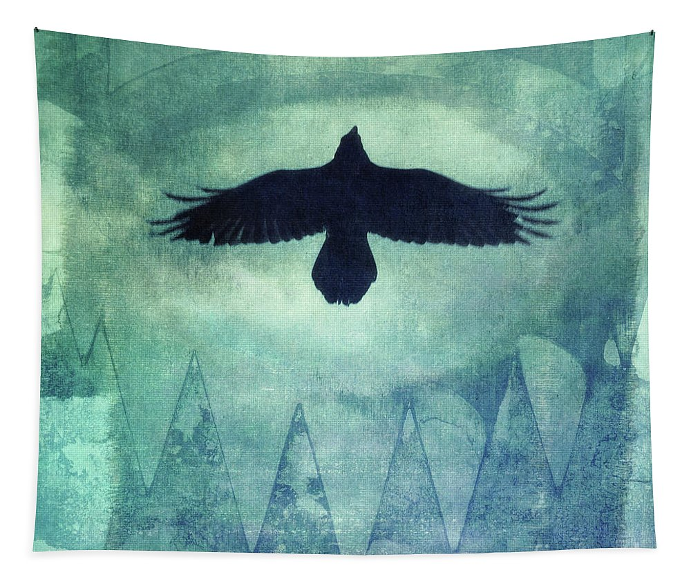 Raven Tapestry featuring the photograph Over The Edges by Priska Wettstein