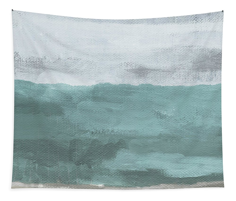 Beach Tapestry featuring the mixed media Overcast- Art By Linda Woods by Linda Woods