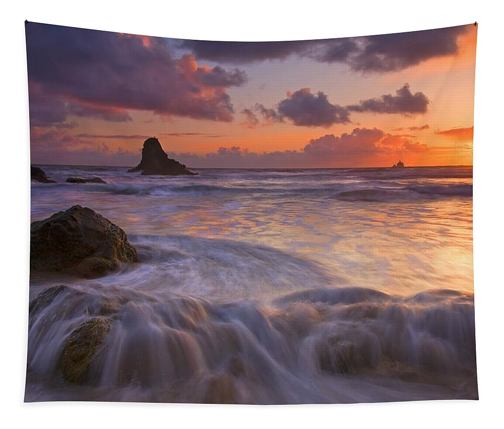 Sunset Tapestry featuring the photograph Overcome by Mike Dawson