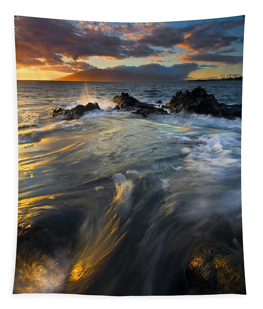 Cauldron Tapestry featuring the photograph Overflow by Mike Dawson