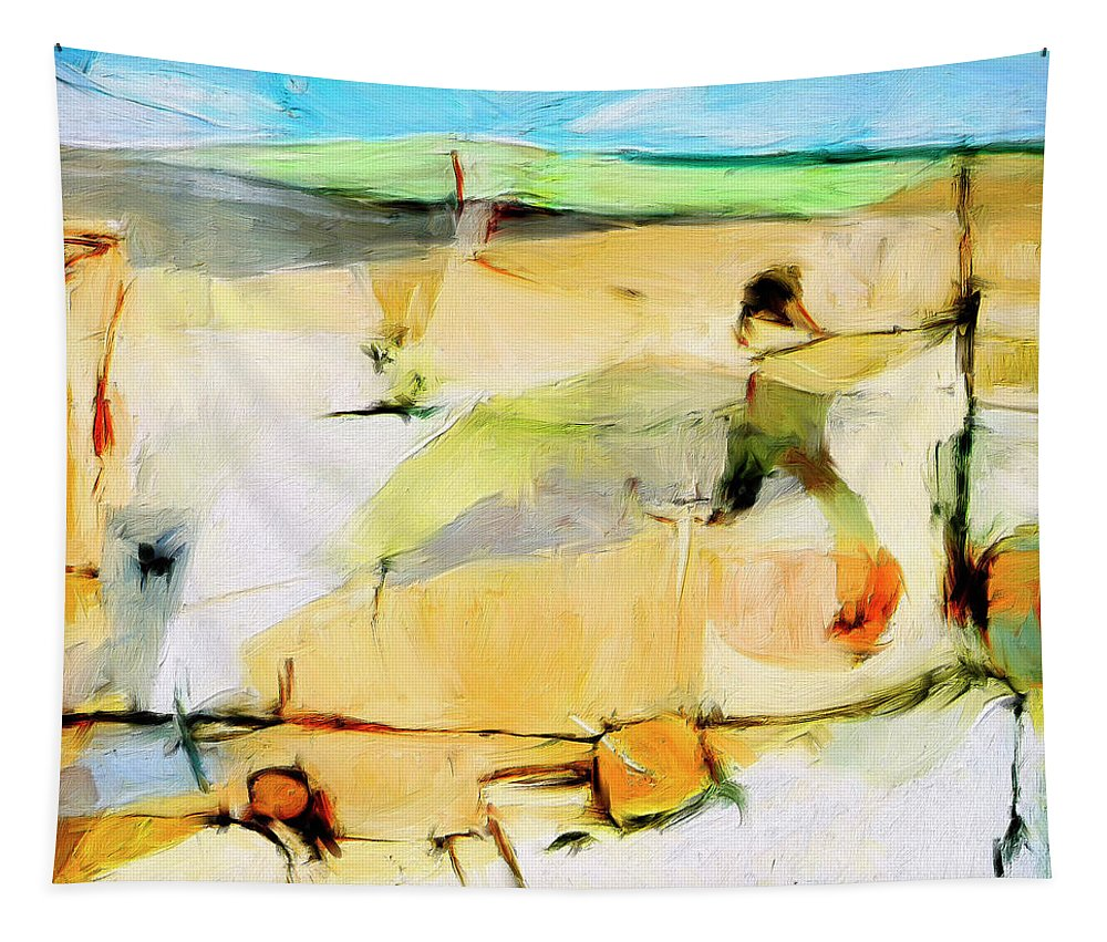 Abstract Tapestry featuring the painting Overlook by Dominic Piperata
