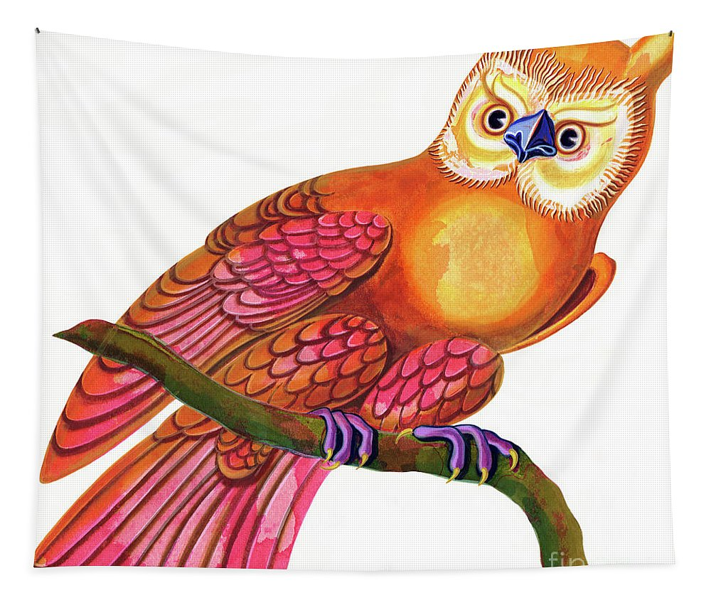 Owl Tapestry featuring the painting Owl by Jane Tattersfield