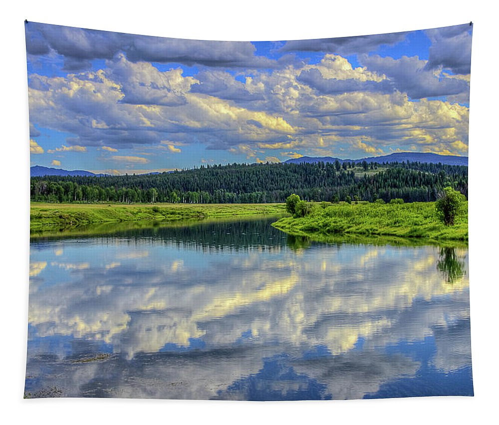 Wyoming Tapestry featuring the photograph Oxbow Bend by Yeates Photography