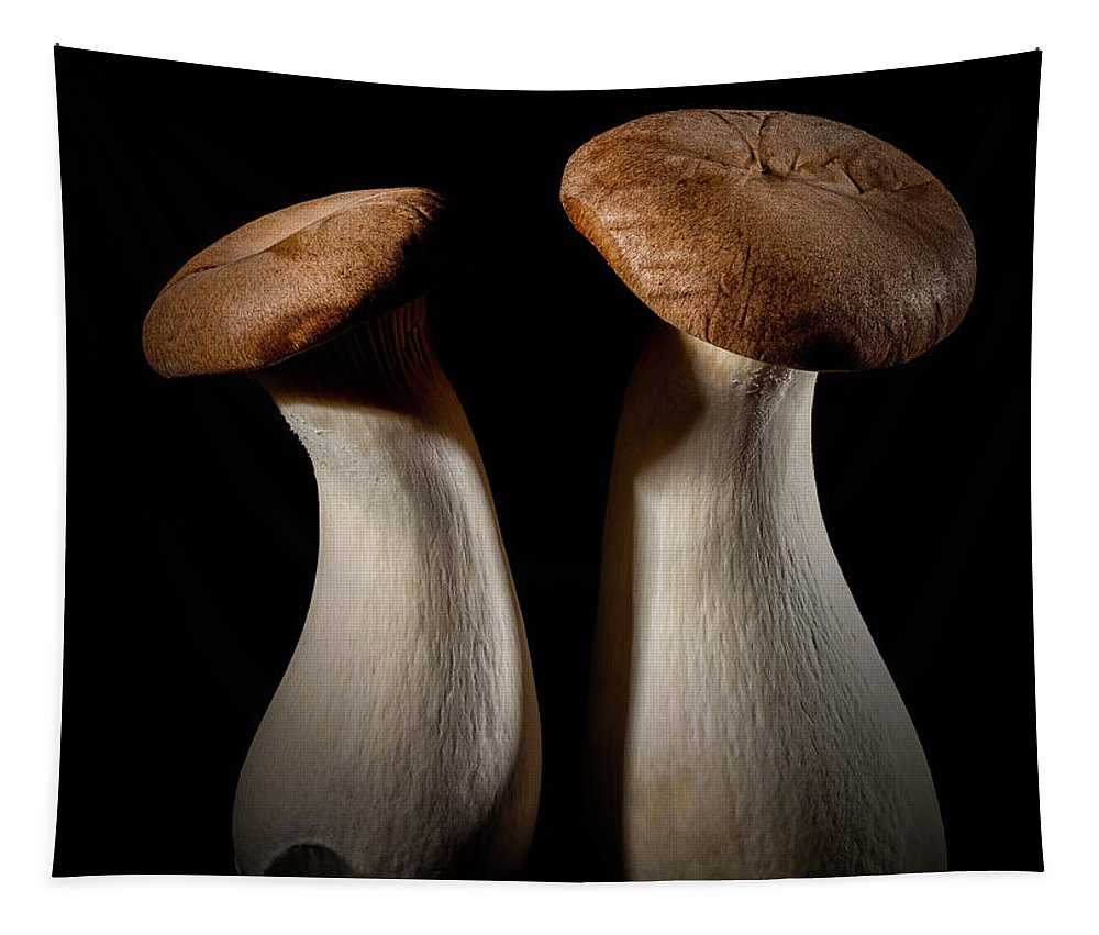 Macro Tapestry featuring the photograph Oyster Mushrooms by Robert Storost