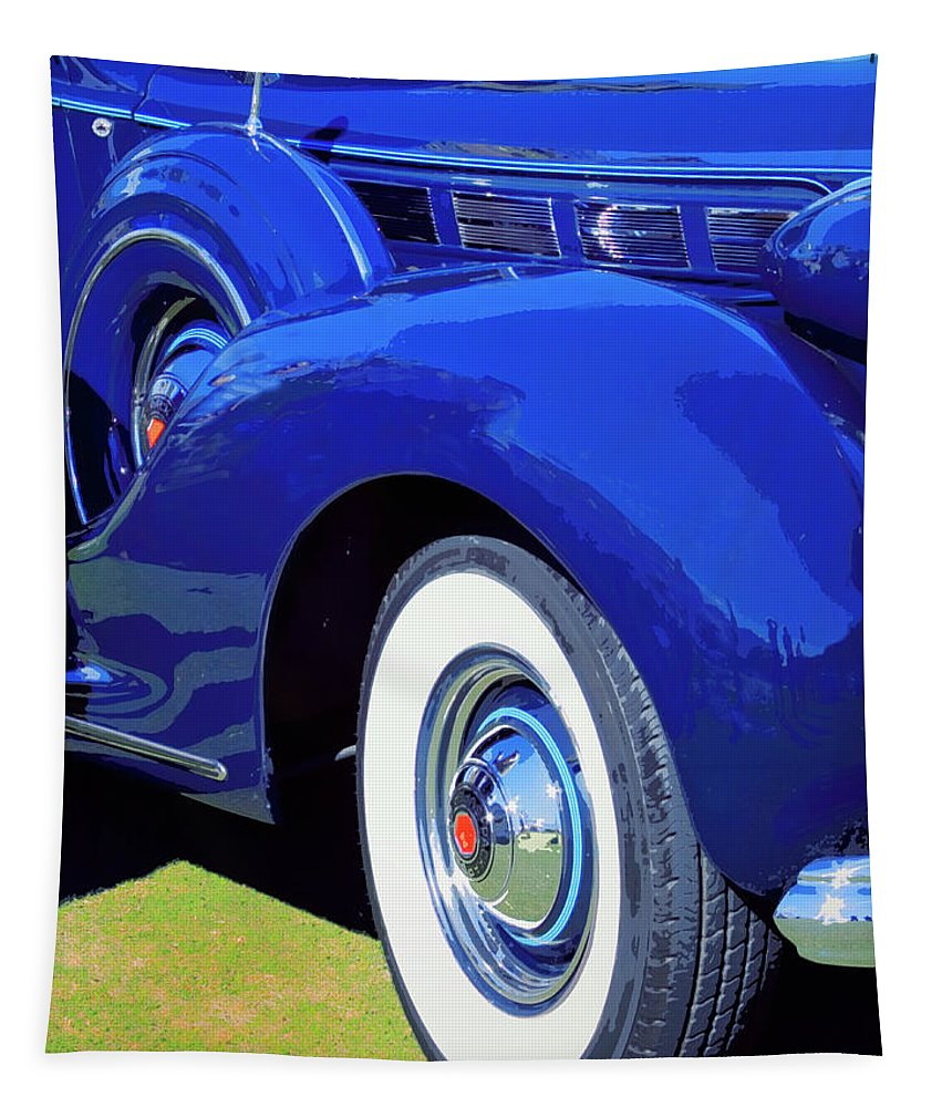 Blue Tapestry featuring the photograph Packard Palm Springs by William Dey