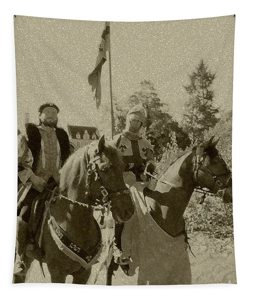 Lord Tapestry featuring the photograph Pageantry In Sepia by Barbie Corbett-Newmin