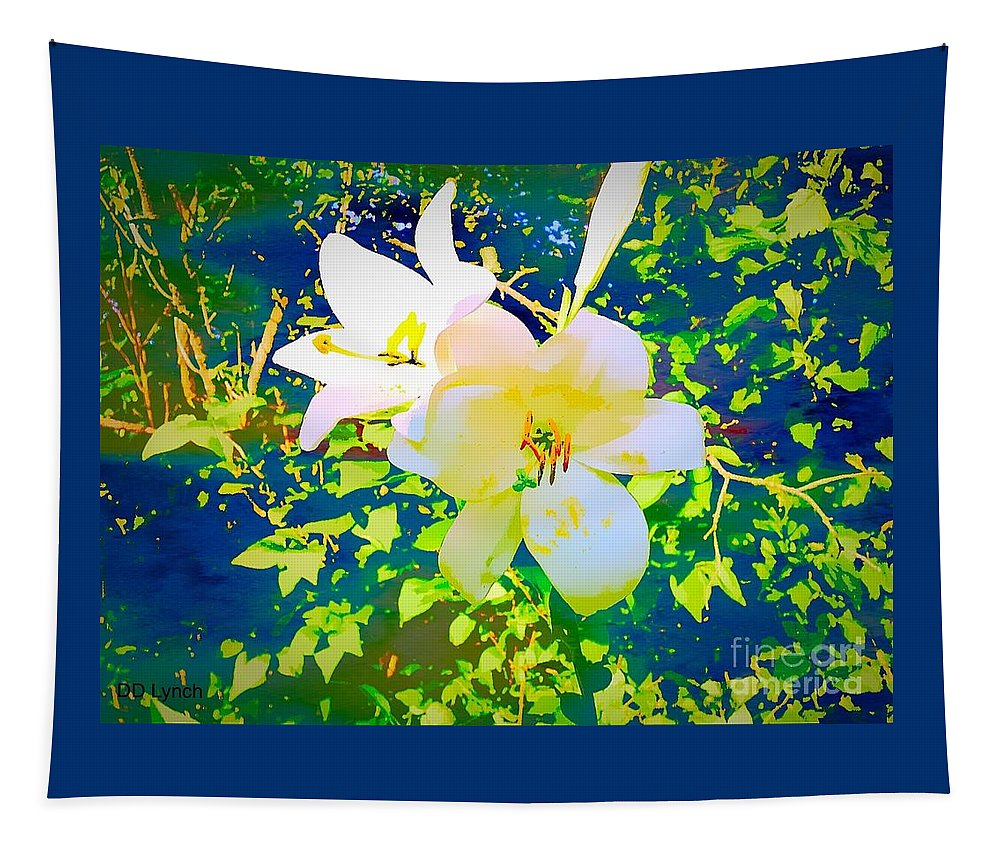 Lilies Tapestry featuring the photograph Paint Me In Water Color Said The Lilies To The Artist by Debra Lynch