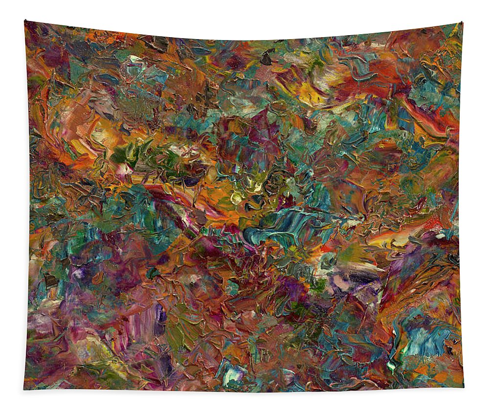 Abstract Tapestry featuring the painting Paint Number 16 by James W Johnson