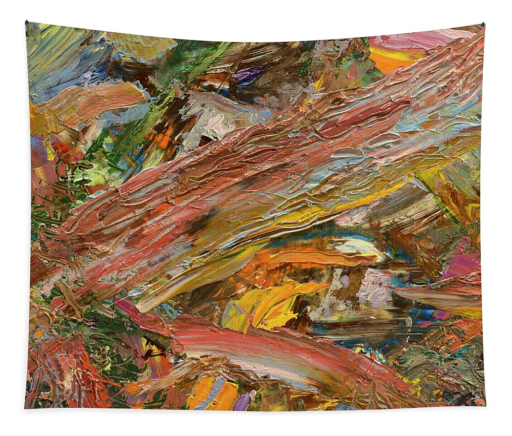 Abstract Tapestry featuring the painting Paint number 41 by James W Johnson