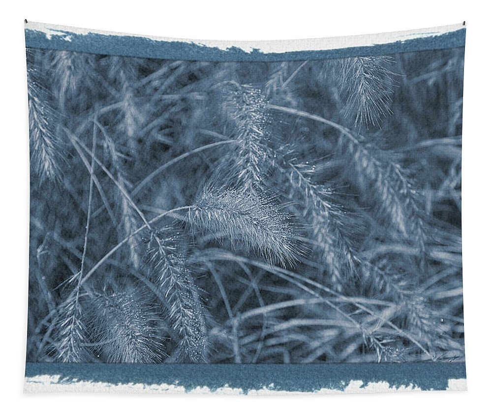 Wheat Tapestry featuring the photograph Painted Cyanotype Golden Wheat by Aimee L Maher ALM GALLERY