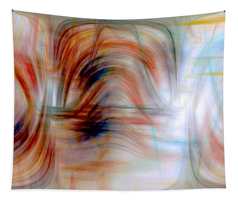 Digital Art Tapestry featuring the digital art Painted Windows by Linda Sannuti