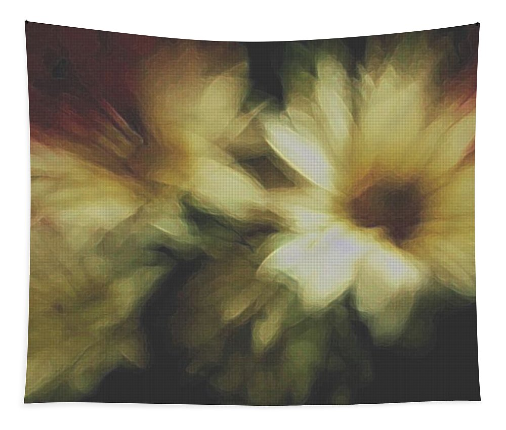 Flowers Tapestry featuring the photograph Painting Flowers by Linda Sannuti