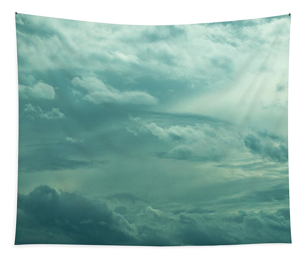 Clouds Tapestry featuring the photograph Painting In The Sky by Annette Persinger