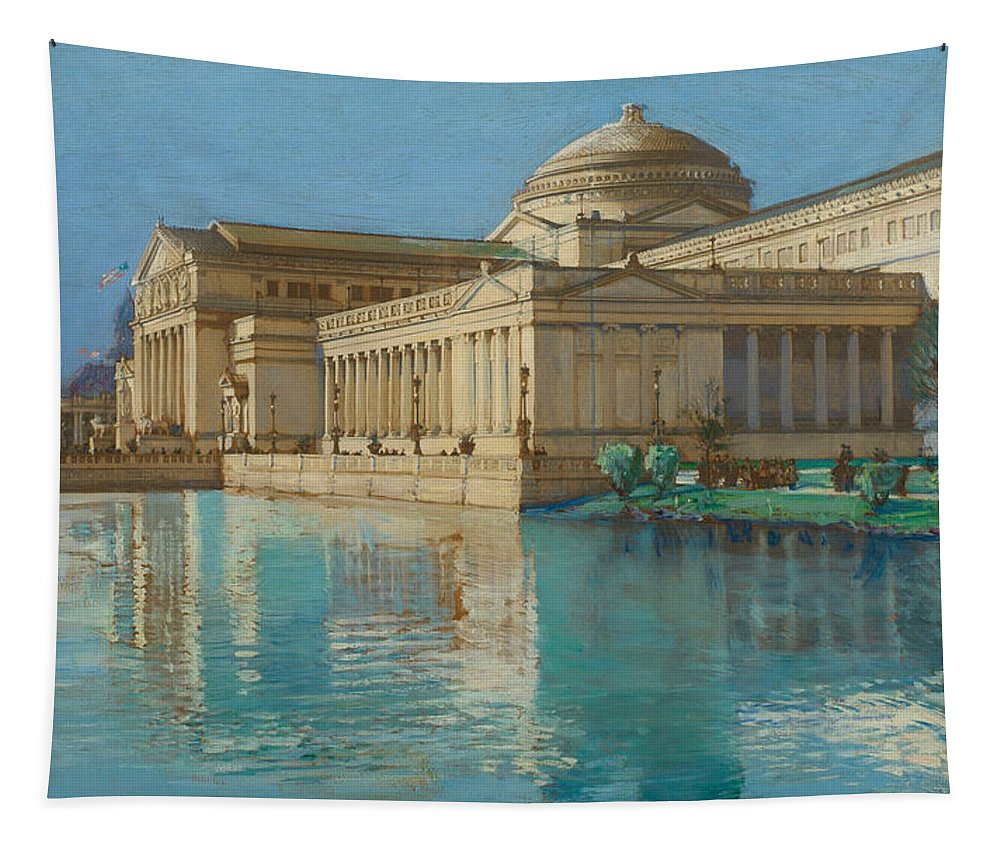 Childe Tapestry featuring the painting Palace Of Fine Arts by Childe Hassam