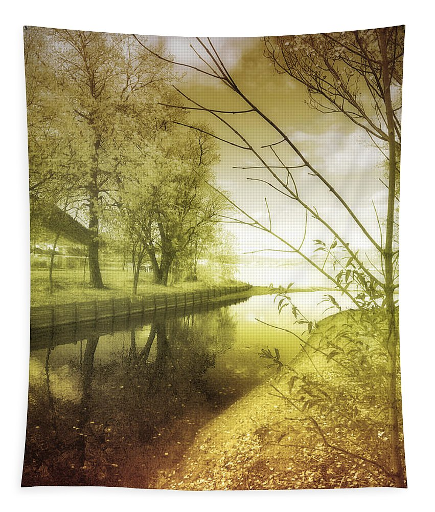 River Tapestry featuring the photograph Pale Reflections Of Life by Tara Turner