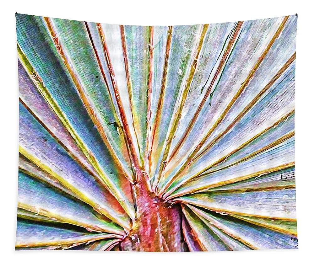 Alicegipsonphotographs Tapestry featuring the photograph Palm Frond Lines by Alice Gipson