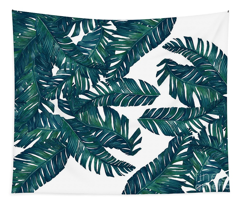 Summer Tapestry featuring the digital art Palm Tree 7 by Mark Ashkenazi