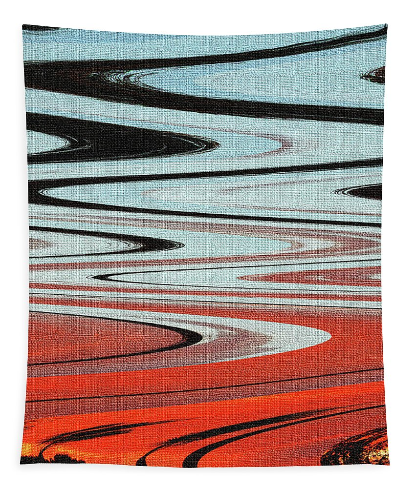 Palm Trees Abstract Design Tapestry featuring the photograph Palm Trees Abstract Design by Tom Janca
