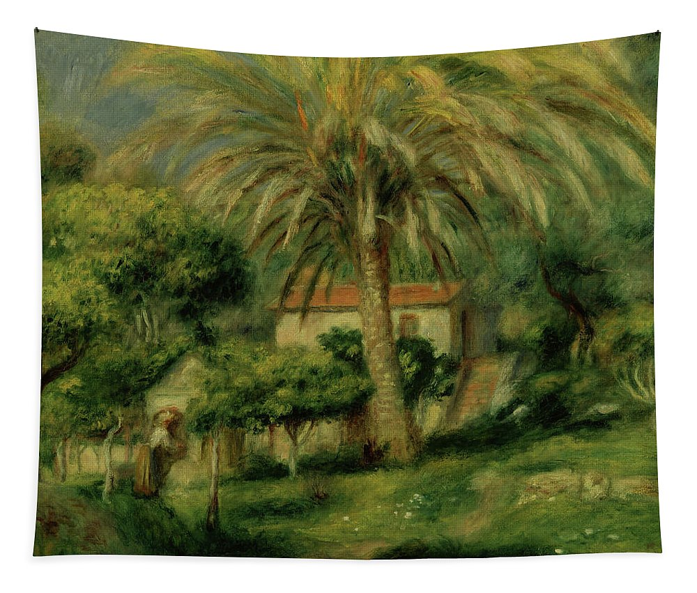 Renoir Tapestry featuring the painting Palm Trees by Pierre Auguste Renoir