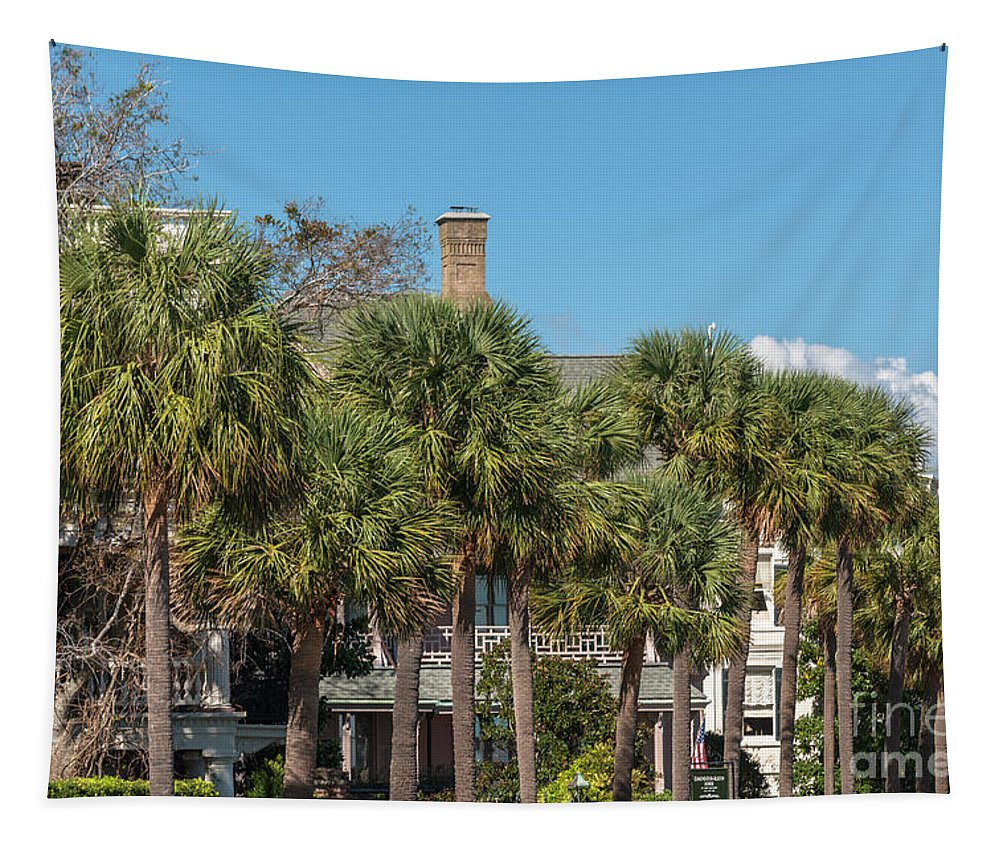 Charleston Tapestry featuring the photograph Palmetto Breeze by Dale Powell