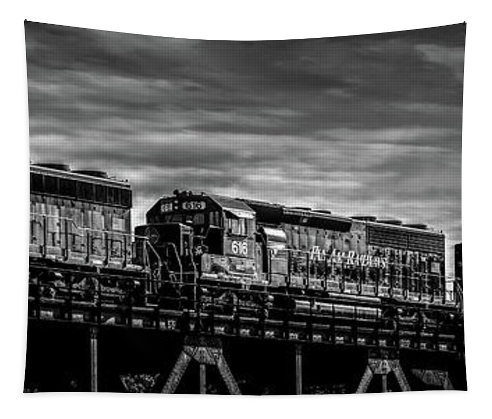Train Tapestry featuring the photograph Pan Am Railways 618 616 609 by Bob Orsillo