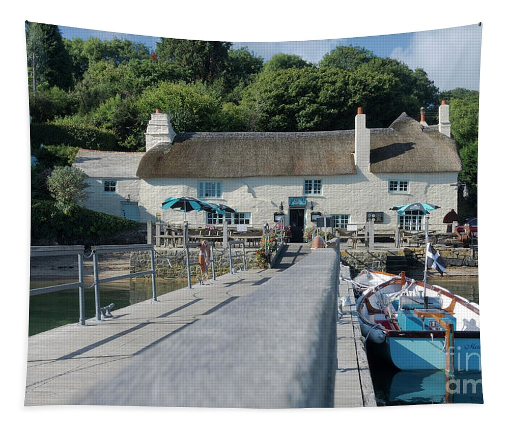 Pandora Inn Tapestry featuring the photograph Pandora Inn Cornwall by Terri Waters