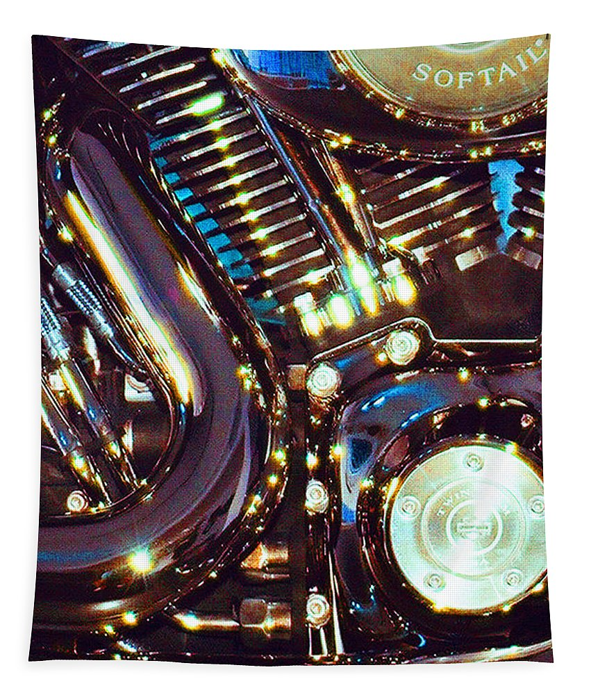 Harley Davidson Tapestry featuring the photograph Panel II from Mechanism by Steve Karol