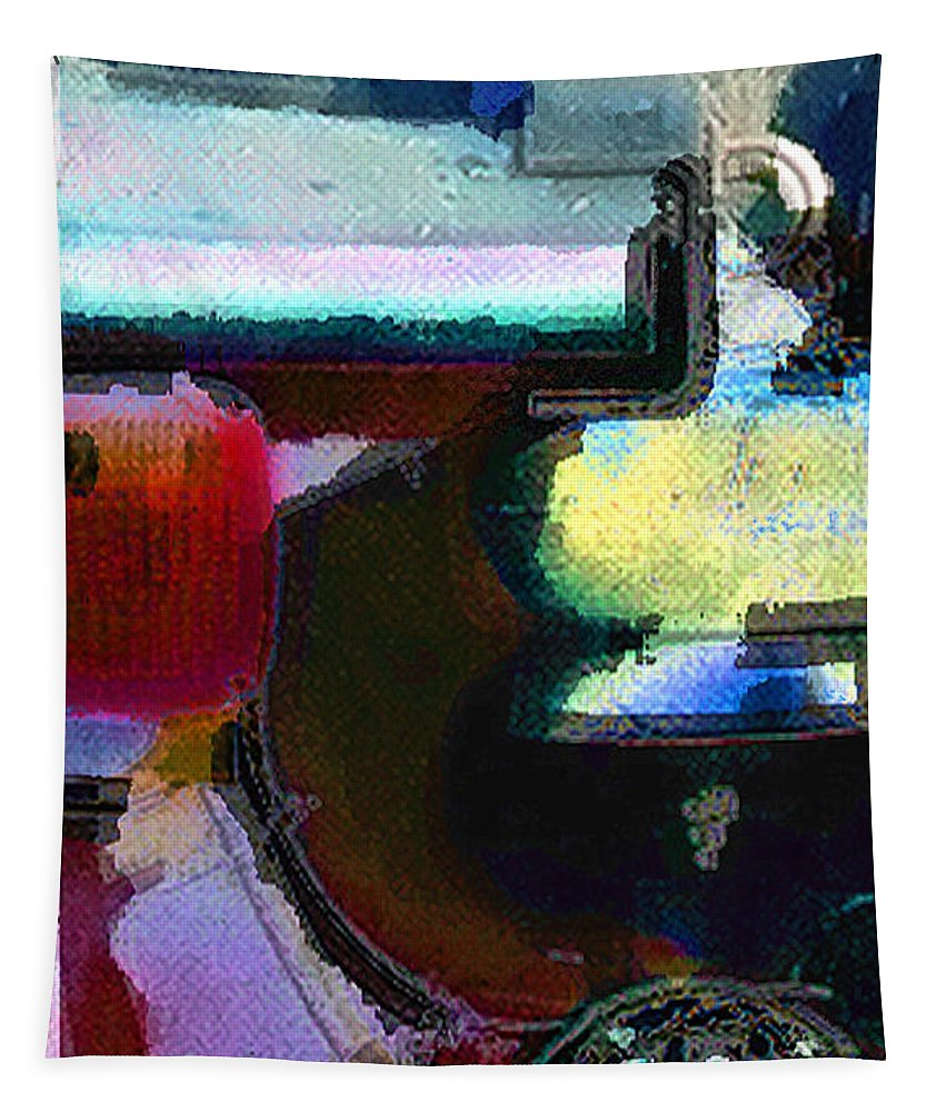 Abstract Tapestry featuring the photograph panel two from Centrifuge by Steve Karol