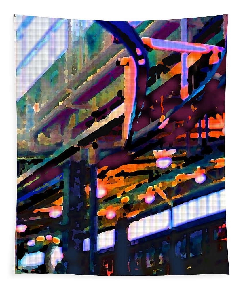 Abstract Tapestry featuring the photograph panel two from Star Factory by Steve Karol