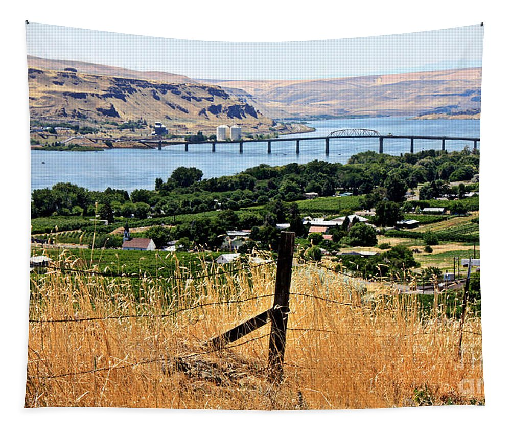 Columbia River Tapestry featuring the photograph Panoramic Columbia River by Carol Groenen