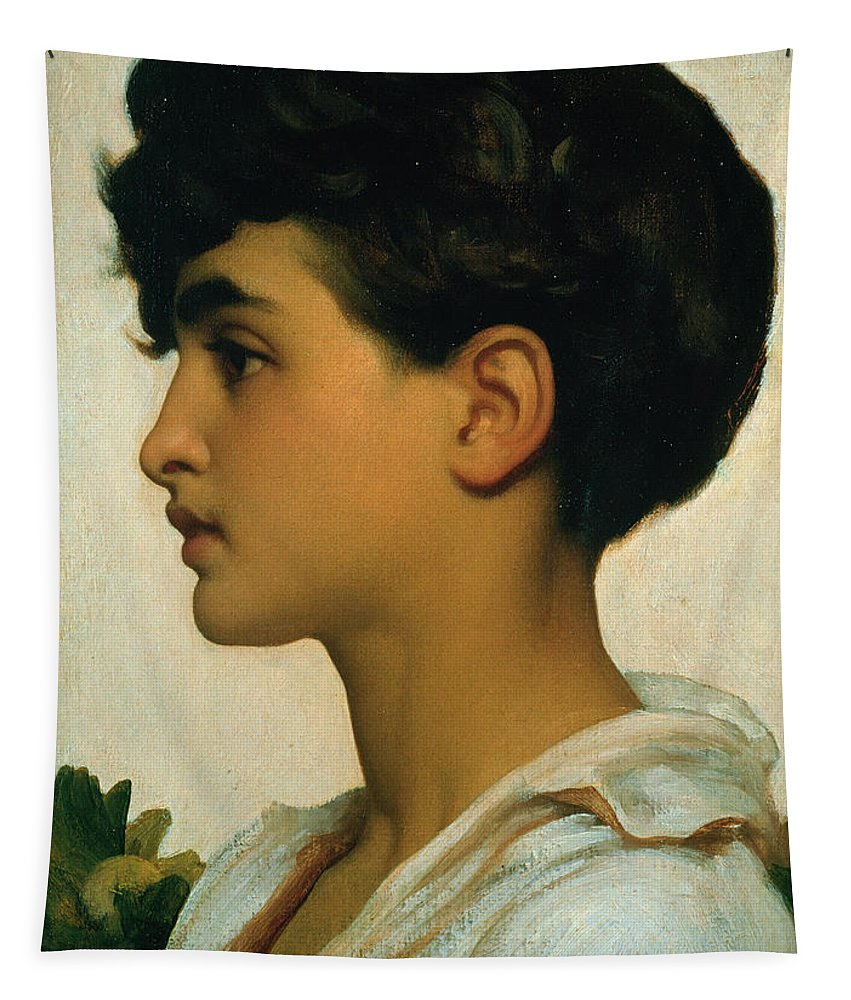Paolo Tapestry featuring the painting Paolo by Frederic Leighton