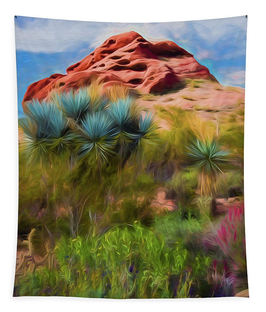Jon Burch Tapestry featuring the photograph Papago Dreams by Jon Burch Photography
