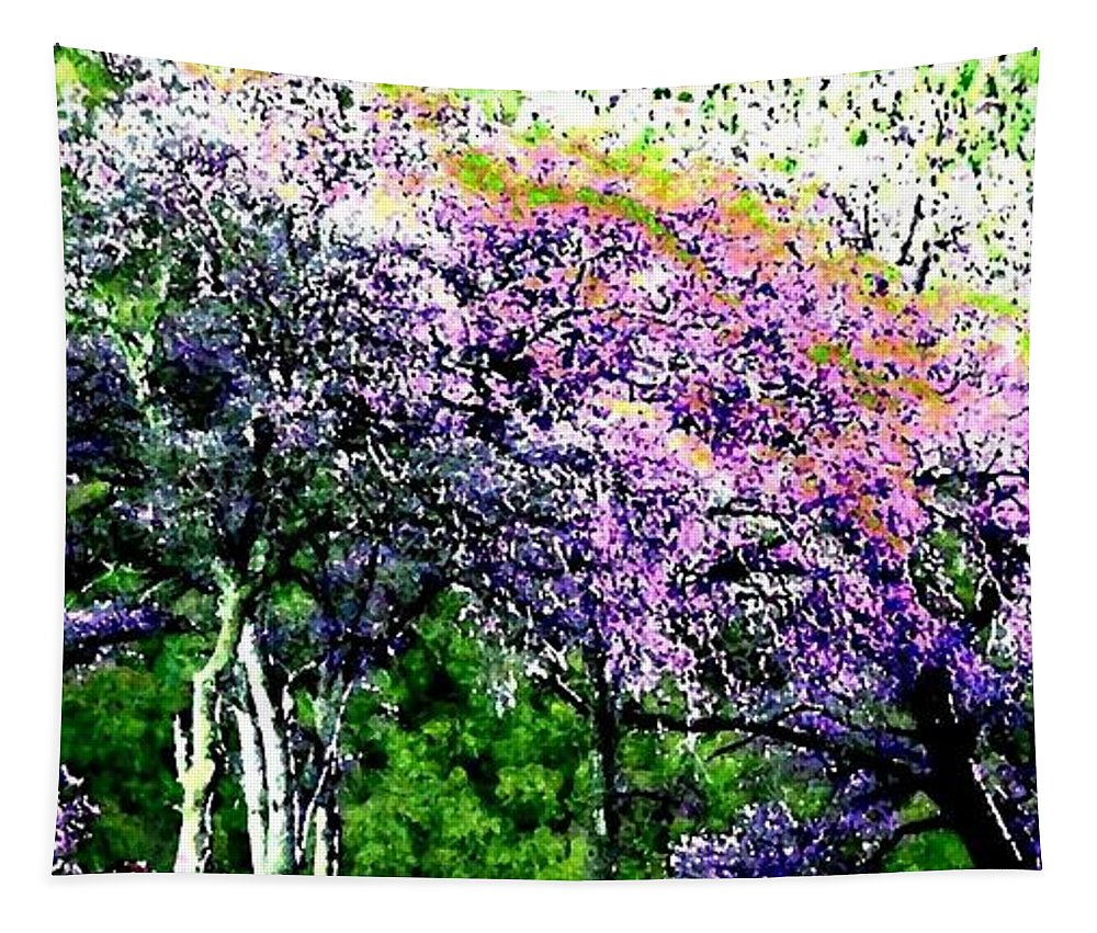 Photo Design Tapestry featuring the digital art Paradise Hills by Will Borden