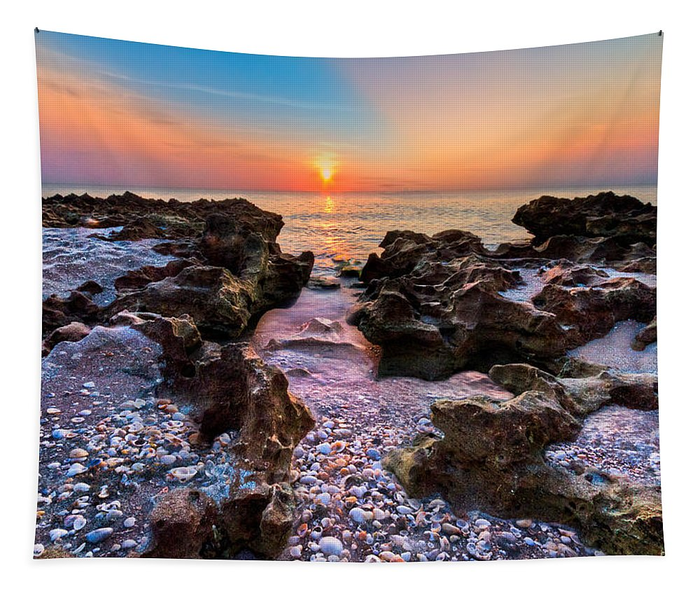 Blowing Tapestry featuring the photograph Paradise Lane by Debra and Dave Vanderlaan
