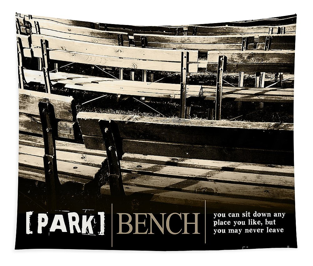 Photography Tapestry featuring the photograph Park Bench by Phil Perkins