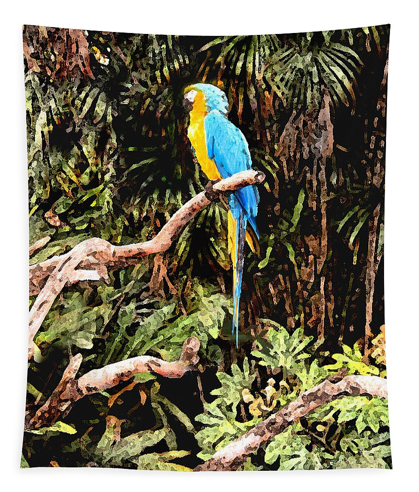 Parrot Tapestry featuring the photograph Parrot by Steve Karol