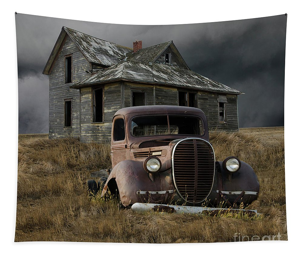 Old Truck Tapestry featuring the photograph Partners In Time by Bob Christopher