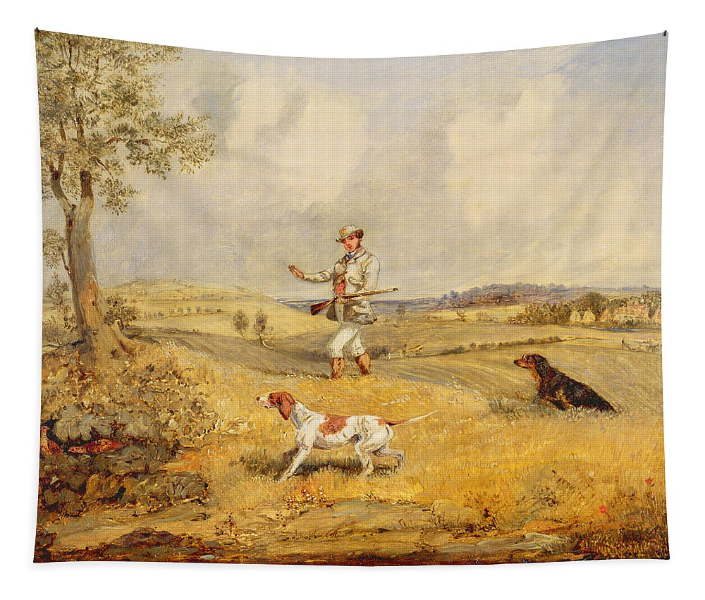 Xyc157041 Tapestry featuring the photograph Partridge Shooting by Henry Thomas Alken