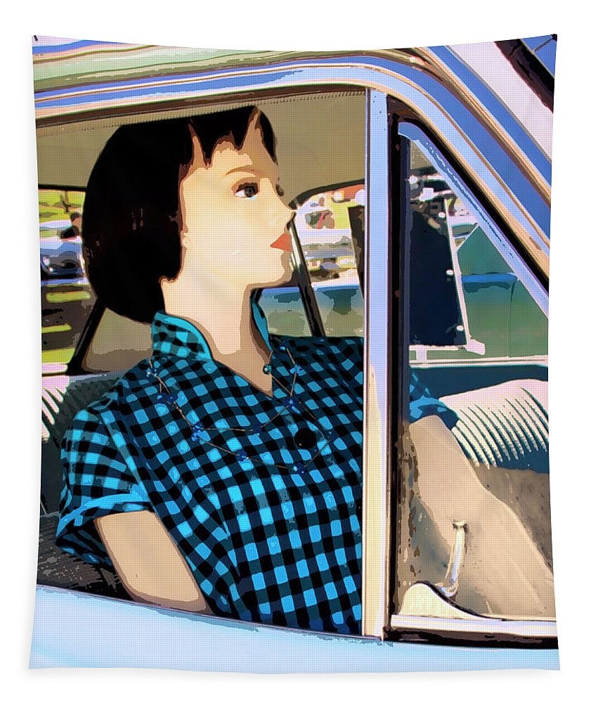 Auto Tapestry featuring the photograph Party Doll by William Dey