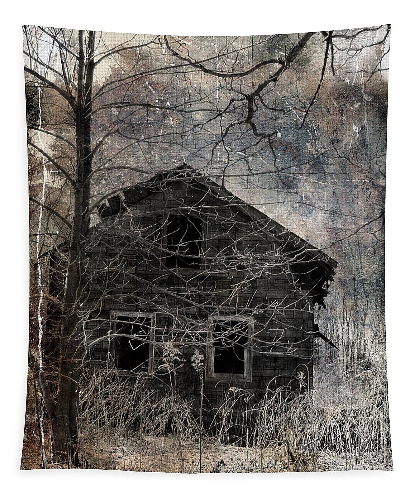 Abandoned Tapestry featuring the photograph Passage Of Time by Gothicrow Images