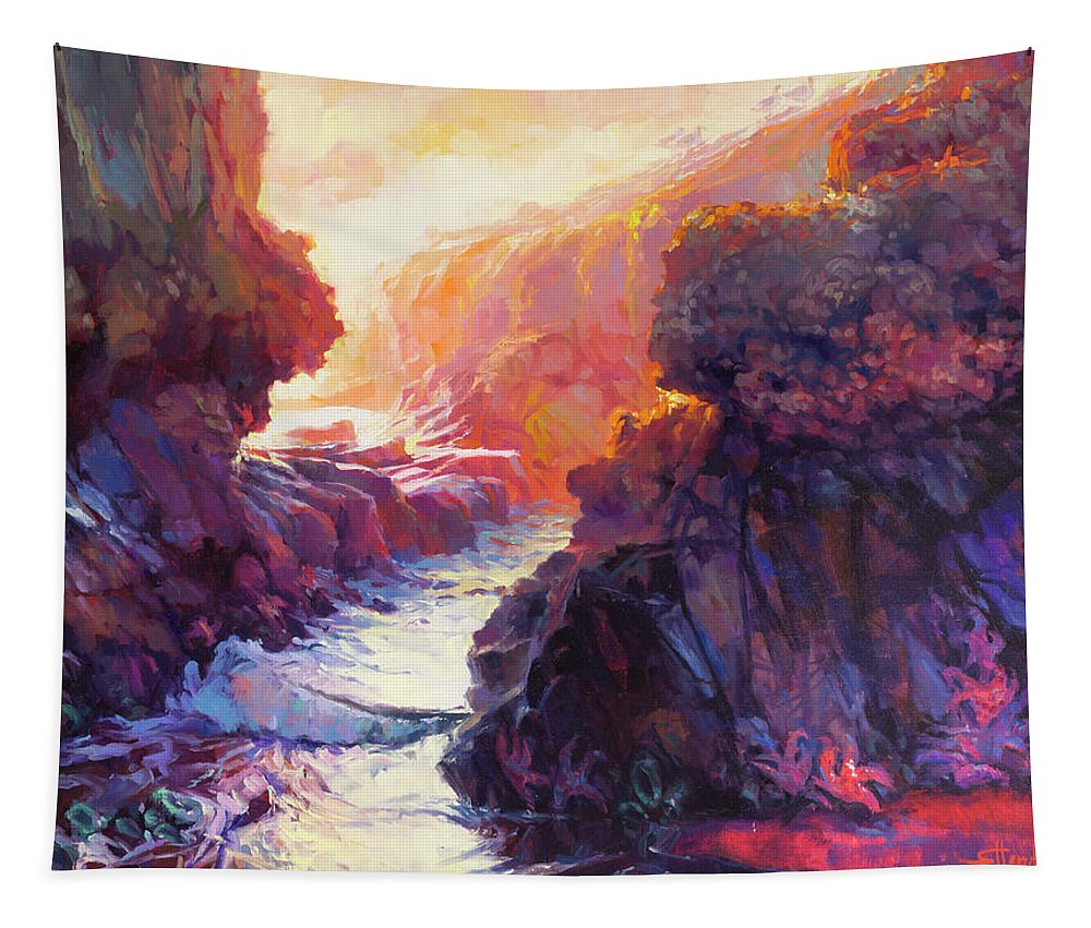 Ocean Tapestry featuring the painting Passage by Steve Henderson