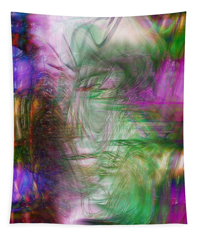 Abstract Art Tapestry featuring the digital art Passage Through Life by Linda Sannuti
