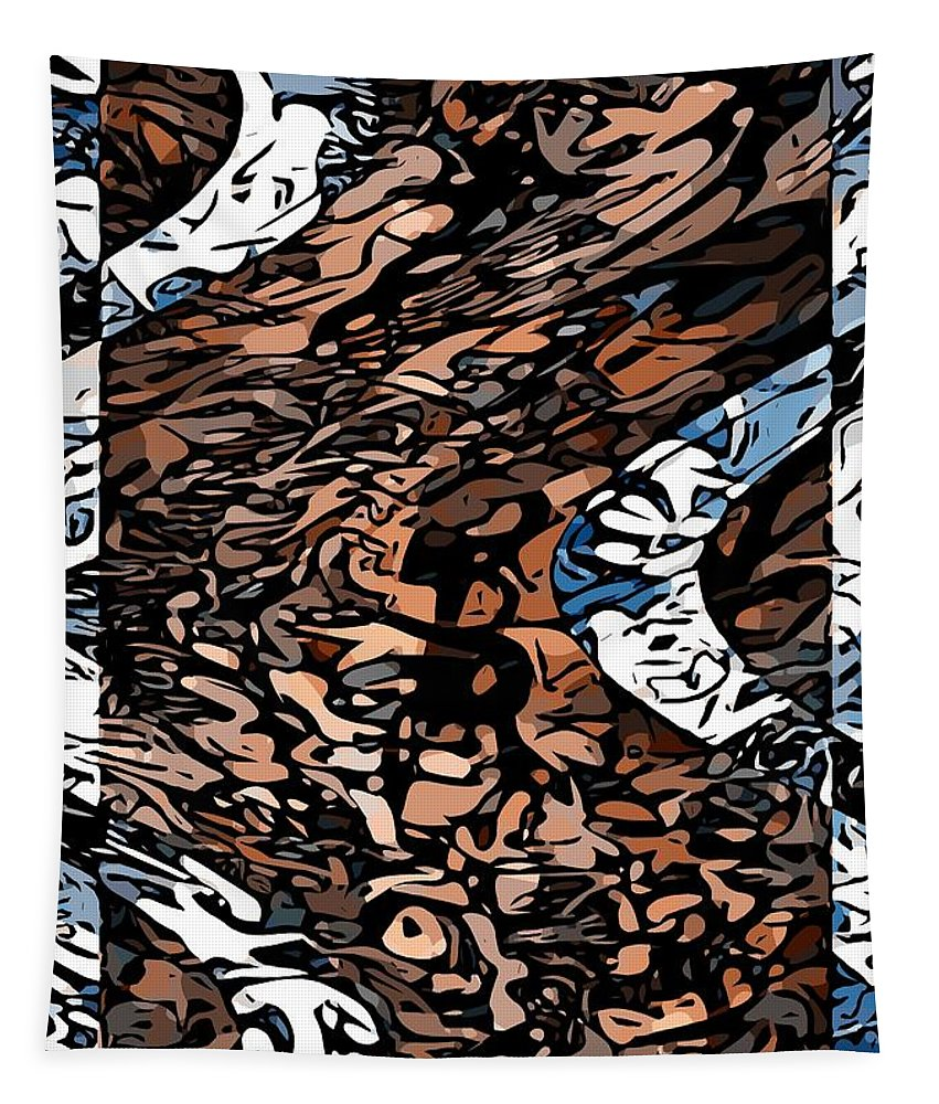 Abstract Art Tapestry featuring the painting Passing Wave by Philip Openshaw