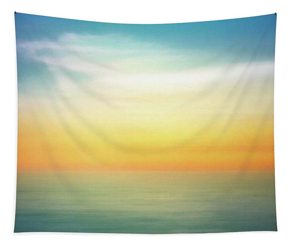 Pastel Tapestry featuring the digital art Pastel Sunrise by Scott Norris