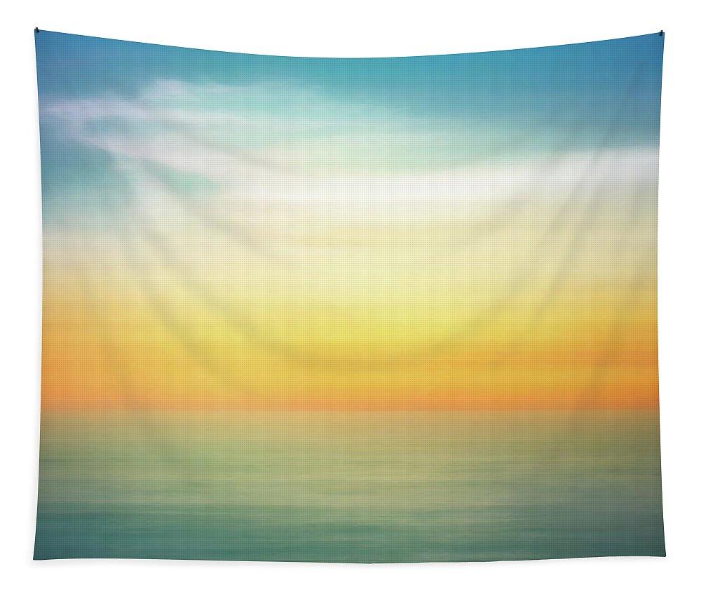 Pastel Tapestry featuring the digital art Pastel Sunrise by Scott Norris