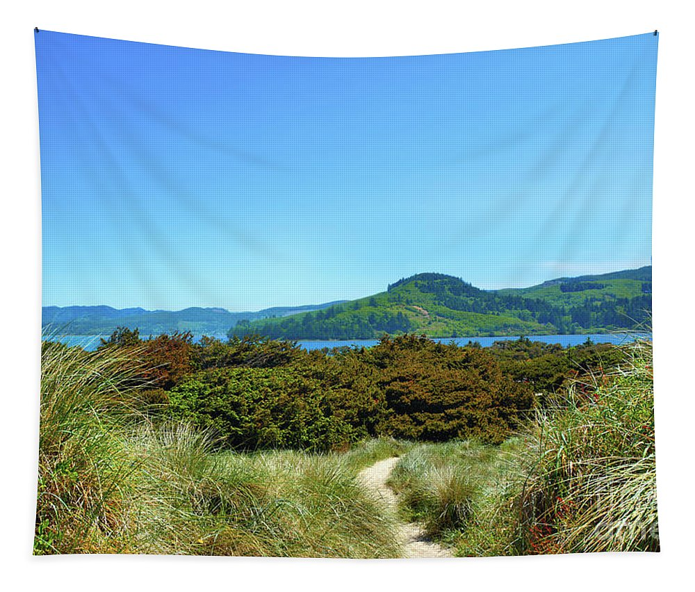 Northwest Tapestry featuring the photograph Footpath To Nestucca River by Thomas Burtney
