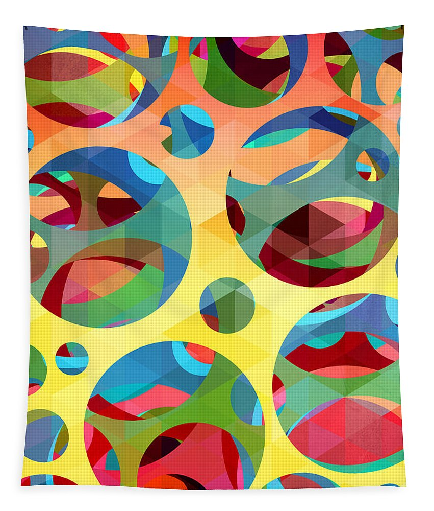 Contemporary Tapestry featuring the painting Pattern 3 by Mark Ashkenazi